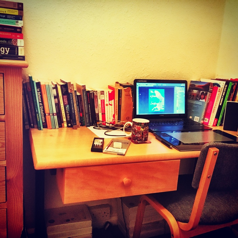 Photograph of our study room: One of the perks of quitting my job, moving house, and focusing on my illustration.