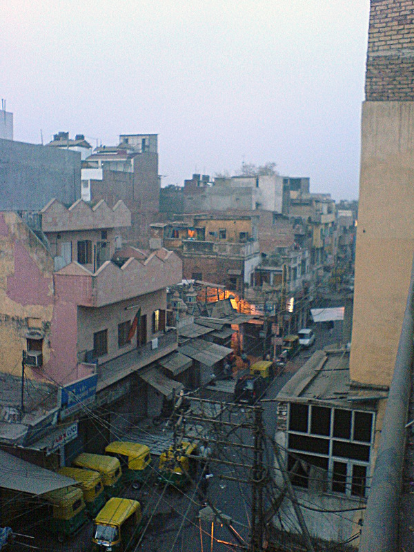 View of a street in Delhi, India