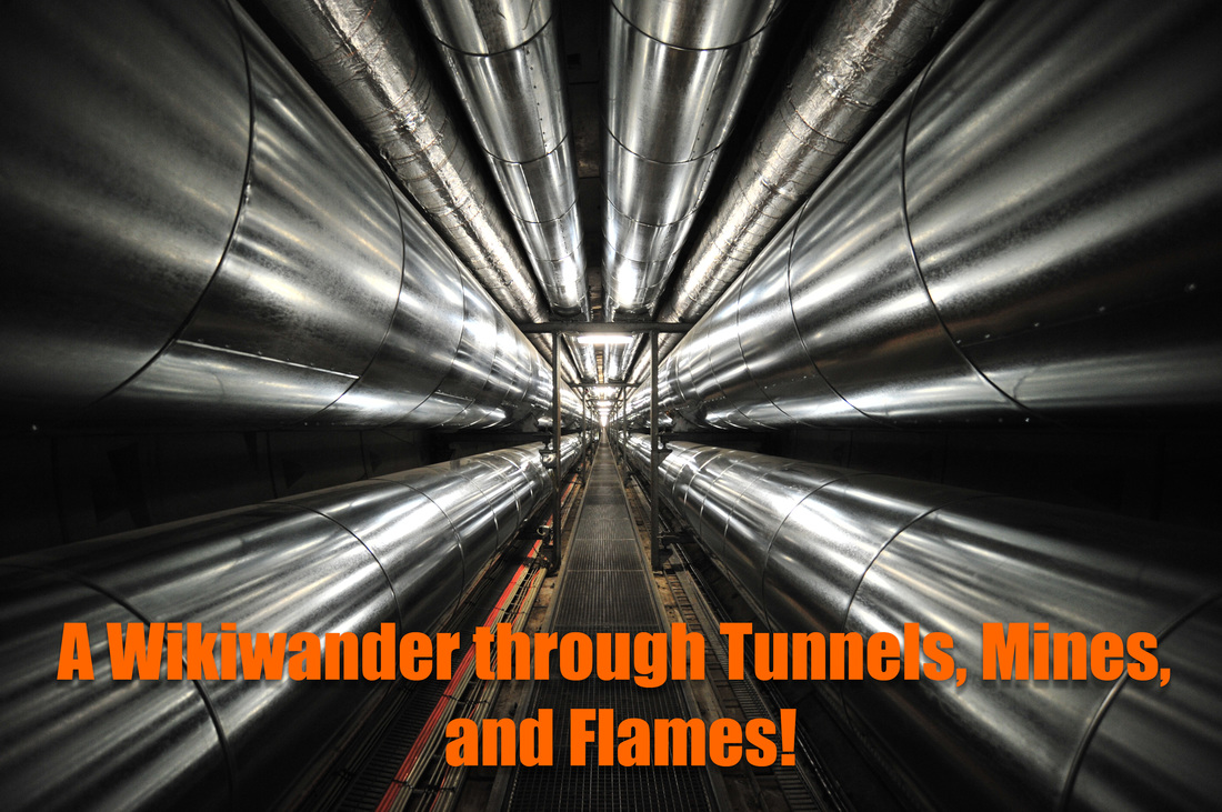 A Wikiwander through tunnels, mines, and flames. This is a picture of a Heatpipe Tunnel in Copenhagen.